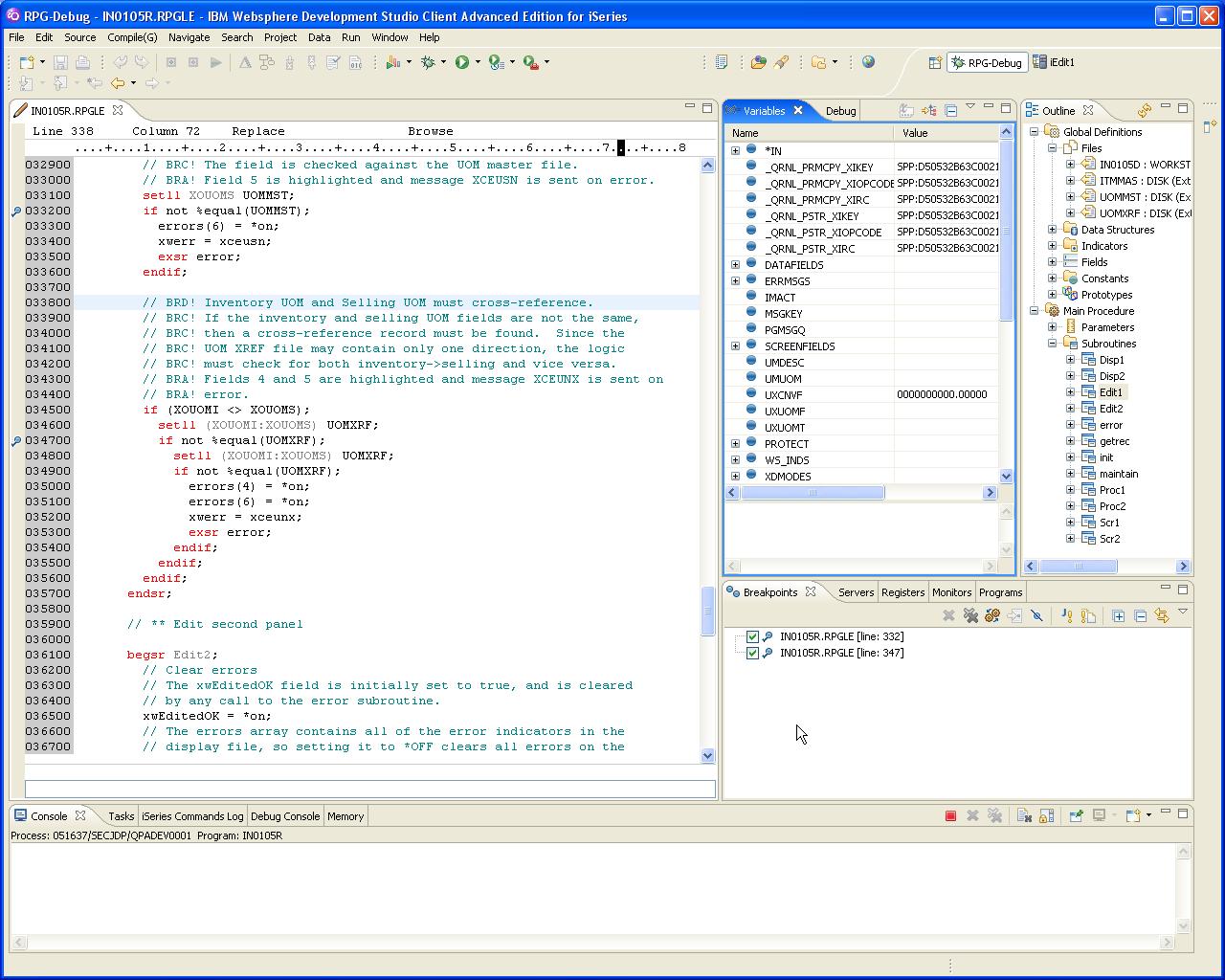 Weaving WebSphere: Debugging a Running System i Job