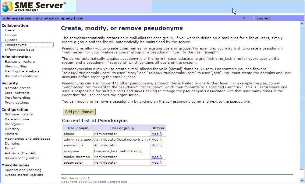 linux sme server