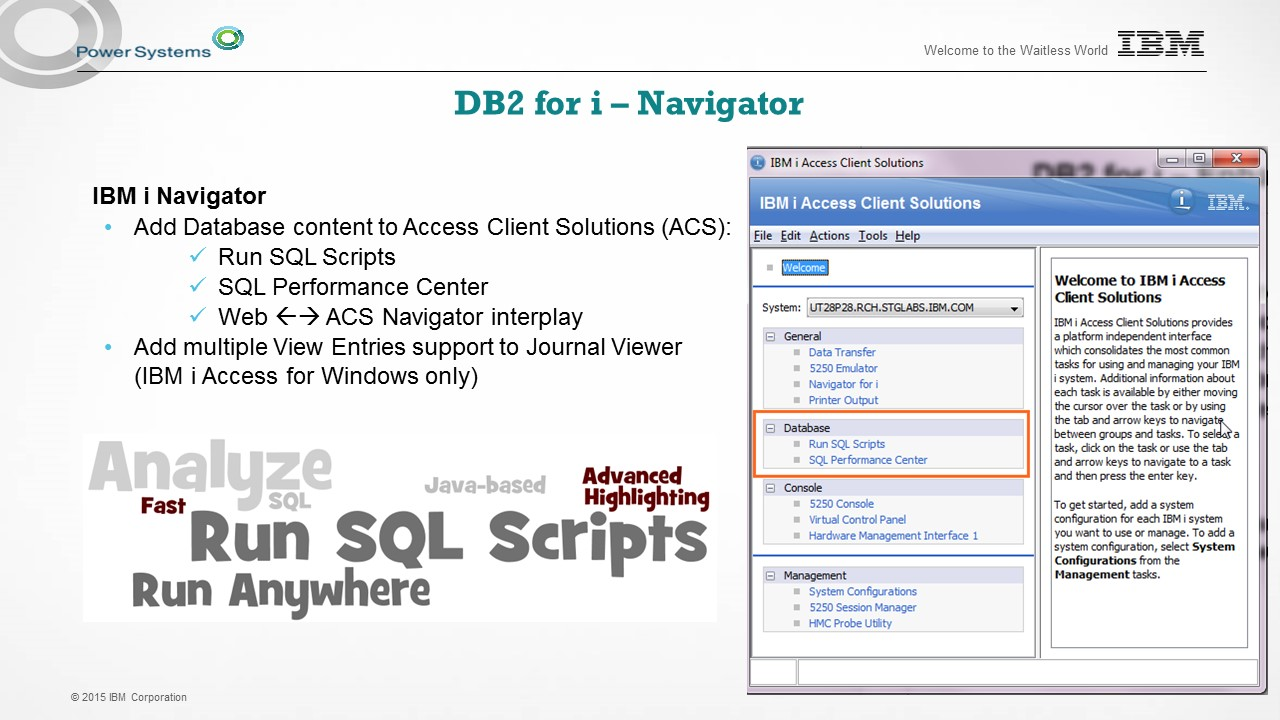 What's New in DB2 for i with TR3