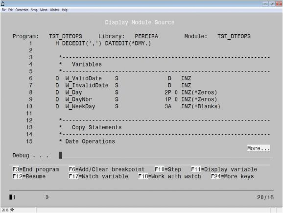 RPG Academy: Debug Done Right – A Step-by-Step Debug Session, Part 1 - Firgure 1