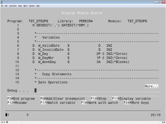 RPG Academy: Debug Done Right - Introducing the ILE Debugger - Figure 2