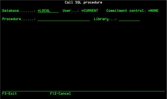 TechTip: Calling SQL Procedures on the Fly - Figure 1