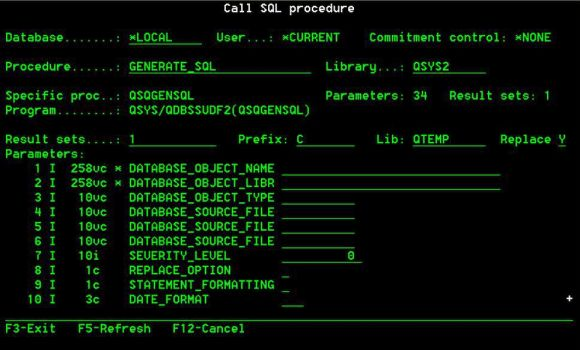 TechTip: Calling SQL Procedures on the Fly - Figure 3